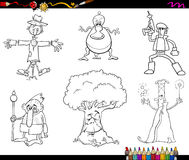 Caratteri di fantasia che colorano pagina Fotografia Stock