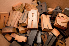 Caratteri di legno Fotografia Stock