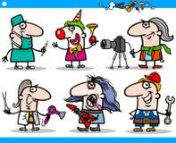 Caratteri di occupazioni della gente del fumetto messi Fotografia Stock
