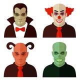 Caratteri di orrore del fumetto, Fotografia Stock