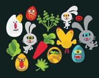 Caratteri di Pasqua per la vostra progettazione. Immagine Stock Libera da Diritti