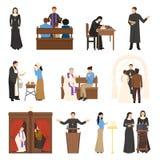 Caratteri di religione messi Fotografie Stock Libere da Diritti