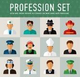 Caratteri differenti di professioni della gente messi Immagini Stock Libere da Diritti
