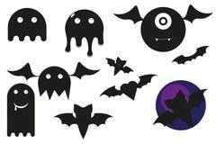 Caratteri divertenti di Halloween Fotografia Stock