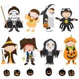 Caratteri e costume svegli di Halloween illustrazione vettoriale
