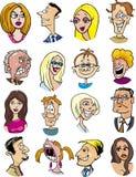 Caratteri ed emozioni della gente del fumetto fotografie stock