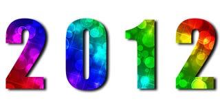 caratteri festivi 2012with Fotografia Stock