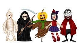 Caratteri per Halloween Immagine Stock