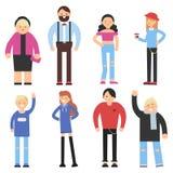 Caratteri piani del fumetto della gente differente Immagine Stock