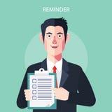 Caratteri piani delle illustrazioni di concetto di ricordo Immagini Stock