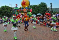Caratteri pixar del Disney sulla parata Fotografie Stock Libere da Diritti