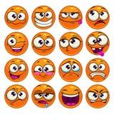 Caratteri rotondi del fumetto arancio Fotografie Stock