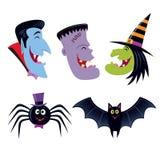 Caratteri sorridenti di risata di Halloween fotografia stock libera da diritti