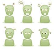 Caratteri stranieri di emozione illustrazione vettoriale