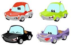 Caratteri svegli dell'automobile del fumetto Fotografie Stock Libere da Diritti