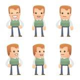 Caratteri universali nelle pose differenti genius royalty illustrazione gratis