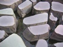 Caratteristica dell'acqua delle pietre facenti un passo a Manchester, Inghilterra Immagine Stock