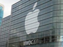 Caratteristica 2011 di evento di Apple WWDC il più grande nella tecnologia p di Apple Fotografie Stock