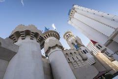 Caratteristica e torri del castello Fotografia Stock Libera da Diritti