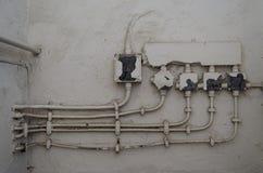 Caratteristica elettrica d'annata Fotografia Stock Libera da Diritti