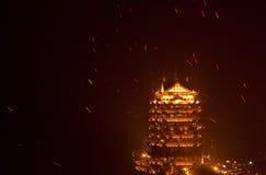 Caratteristiche architettoniche antiche cinesi Immagini Stock Libere da Diritti