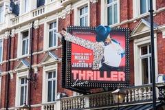 Caratterizzando Michael Jackson in tensione a Lyric Theater, Londra Immagine Stock