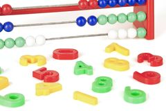 Caratterri numerici multicolori Fotografia Stock