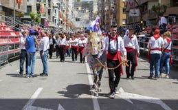 Caravaca de Λα Cruz, Ισπανία, στις 2 Μαΐου 2019: Άλογο που Caballos Del Vino, Caravaca de Λα Cruz στοκ φωτογραφίες