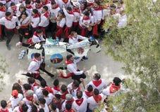 Caravaca de Λα Cruz, Ισπανία, στις 2 Μαΐου 2019: Ιππόδρομος Caballos Del Vino στοκ φωτογραφία