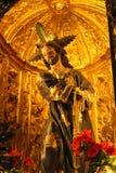Carving of Jesus Christ rescued in Caravaca de la Cruz stock photo