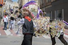 Caravaca De Los angeles Cruz, Hiszpania, Maj 2, 2019: Ko? paraduje przy Caballos Del Vino zdjęcia royalty free