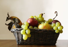 Caravaggio. Fruit basket on the table Stock Image