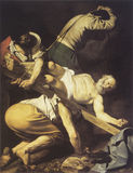 Caravaggio painting Martyrdom of Saint Peter. Martyrdom of Saint Peter, work of Caravaggio in 1601 Stock Photography