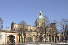 caravaggio sanktuarium zima obrazy royalty free