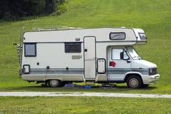 Caravan. A caravan in a green grass Royalty Free Stock Photo