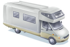 Caravan. Isolated illustration of a family truck Stock Photography