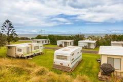 Caravan of aanhangwagenpark Royalty-vrije Stock Fotografie