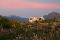 Caravan al tramonto Fotografia Stock Libera da Diritti