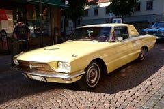 Caravan of American retro cars Royalty Free Stock Photo