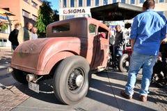 Caravan of American retro cars Stock Photography