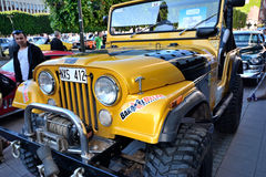 Caravan of American retro cars Stock Photo
