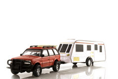 Caravan with automobile Royalty Free Stock Photos