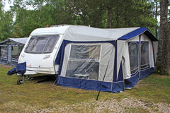 Caravan and Awning Stock Photos
