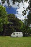 Caravan in beautiful surroundings. Royalty Free Stock Photo
