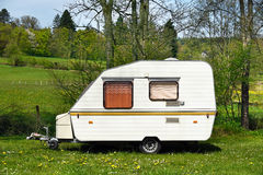 Caravan in the Belgian Ardennes Royalty Free Stock Images