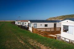 Caravan camp in Dorset. Stock Images