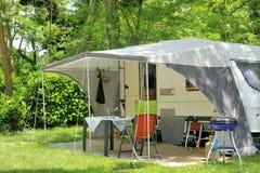 Caravan at a camp site Stock Photos
