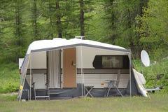 Caravan at camping Royalty Free Stock Images