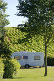 Caravan at camping in France Stock Photography