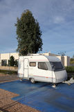 Caravan on a camping site Royalty Free Stock Image